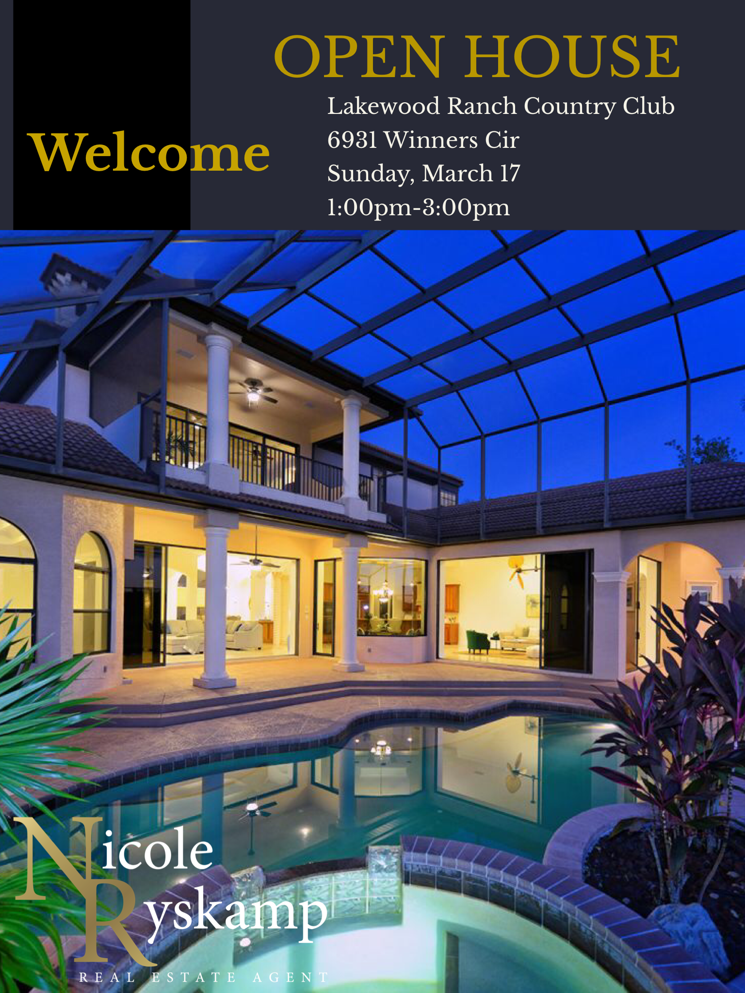 SUNDAY PLANS…visit me at my open house in Eagle Trace