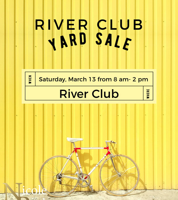 River Club schedules garage sale Sat., April 13 8am-2pm